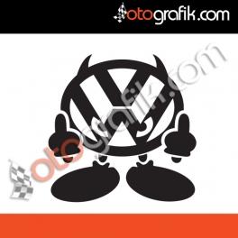 Volkswagen Demon Oto Sticker