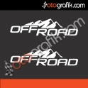 Karlı Tepeler Off Road Sticker Set