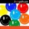 Renkli Gülen Yüzler Oto Sticker