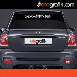Göktürkçe Tanrı Türk'ü Korusun Oto Sticker